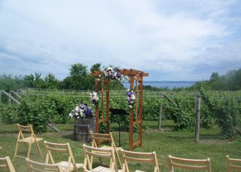 wedding setup on ciccone vineyards