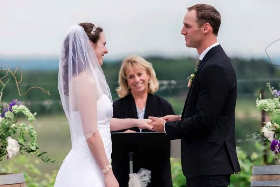 black star farms vineyard wedding ceremony